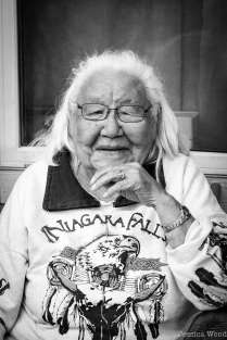 Elder Doris in Telegraph Creek, BC