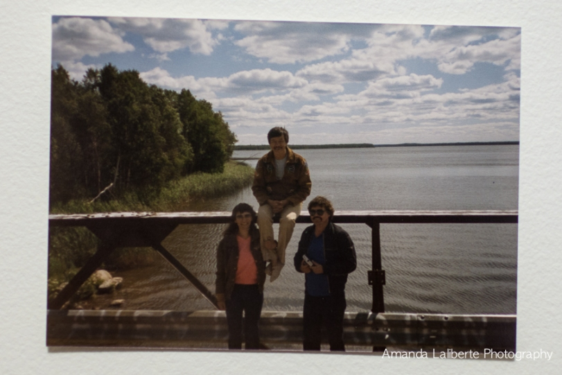 Photograph my mother took of Elenor, Norman Sylvester and my Dad at Turnor Lake in July, 1985.