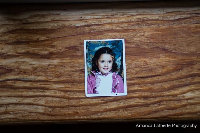 Kindergarten photo of me in my curls and frills.