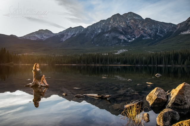 Jasper Wild:  Fun photoshoot at Pyramid Lake in Jasper, AB.