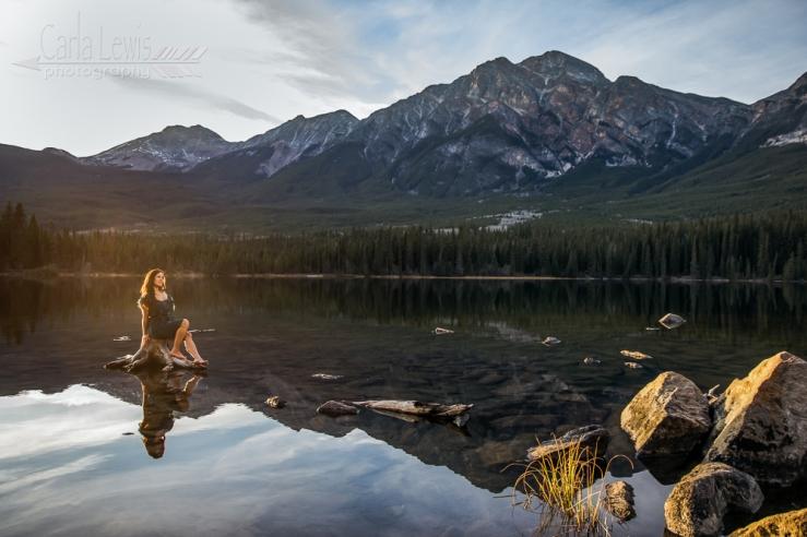 Jasper Wild:  Fun photoshoot at Pyramid Lake in Jasper, AB.