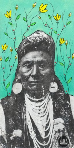 """It does not require many words to speak the truth."" - Chief Joseph, Nez Perce 6"" x 11"" 
