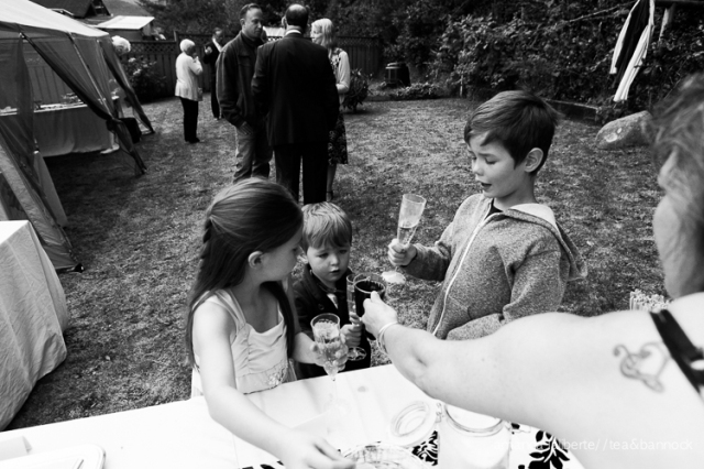 The boys are busy eating sweets and drinking angel pee with their friend Bex. I was hired to photograph Suri and Simon's wedding here in Alert Bay, last summer.
