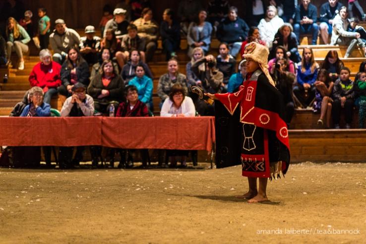 Dante sharing a tradiitonal Kwakwaka'wakw dance.