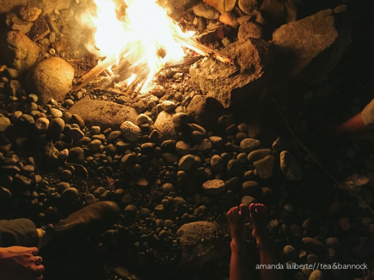 The night we ended the day with a beach fire.