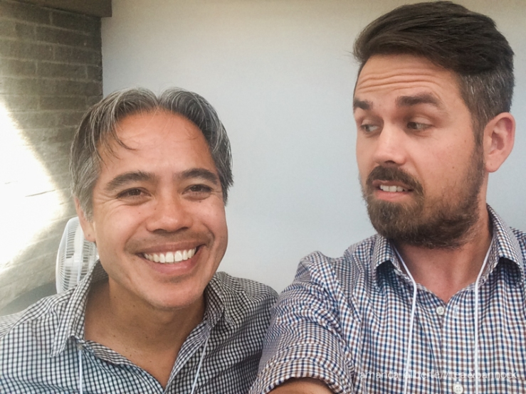 The day my husband got a selfie with Evan Adams. Whoops, that didn't happen in Alert Bay but I am so excited about it that I had to share. Matching doctors.
