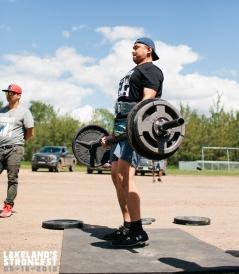 John Steinhauer, novice men's deadlift.